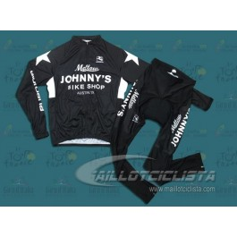 Equipación Mellow Johnny's Bike Shop Negro(Maillot manga larga y Culotte largo).