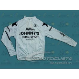 Maillot manga larga Mellow Johnny's Bike Shop Blanco