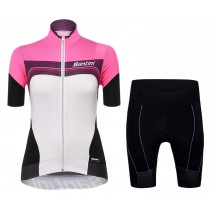 2017 Santini Queen Of The Mountains De las mujeres Fuxia  (Maillot y Culotte con tirantes)