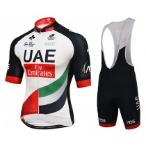 2017 UAE Fly Emirates  (Maillot y Culotte con tirantes)