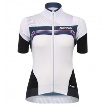 Maillot manga corta 2017 Santini Queen Of The Mountains De las mujeres Blanco