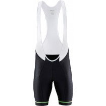 Culotte corto 2015 Craft Bike Grand Tour Negro-Blanco-Verde (con tirantes)