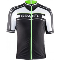 Maillot manga corta 2015 Craft Bike Grand Tour Negro-Blanco-Verde