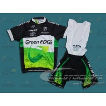 Equipación 2012 GreenEDGE Black And White (Maillot y Culotte con tirantes)