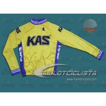 Chaqueta Throwback KAS en Amarillo Team Invierno