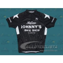 Maillot manga corta Mellow Johnny's Bike Shop Negro