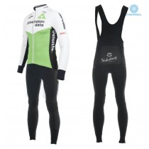Equipación 2018 Dimension Data Blanco Invierno (Chaqueta y Culotte largo con tirantes)