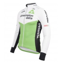 Maillot manga larga 2018 Dimension Data Blanco