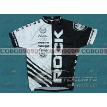 Maillot manga corta O.G. 2.0 Rock Racing In Blanco/Negro 2010